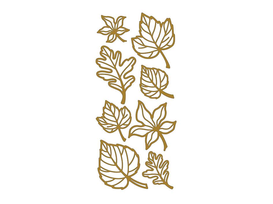 klistremerker blader gull tegne no
